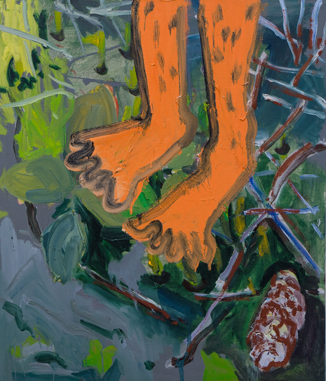 Grounding, 70x60cm, oil and enamel on canvas, 2020