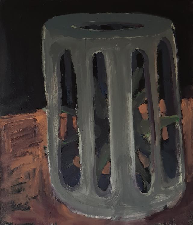 Hlavolam, 60x70cm, oil and enamel on canvas, 2020